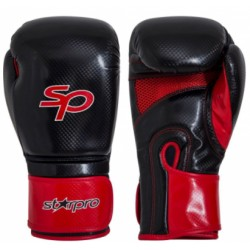 Starpro Aero Tech Fitness Boxing Glove Zwart/Rood 14oz